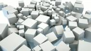 Stock Video Footage of Boxes filling screen. Abstract background