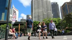 Tourists hang out in Sydney (glidetrack) 2 Stock Footage