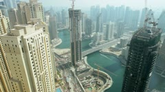 Skyscrapers on Dubai Marina, UAE, Time Lapse - stock footage