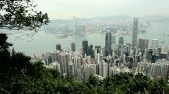 Victoria Peak, Victoria Harbour, Hong Kong Stock Footage