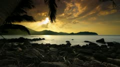 Tropical Sunset Stock Footage