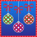 Three christmas ornaments Stock Illustration