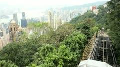 Victoria Peak Tramway Hong Kong Island Stock Footage