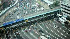 Kowloon Toll road traffic, Hong Kong Stock Footage