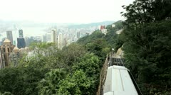 Victoria Peak Tramway Hong Kong Island - stock footage