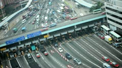 Traffic Kowloon Toll Road, Hong Kong Stock Footage
