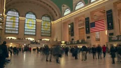 Grand Central Terminal Timelapse 2 - stock footage