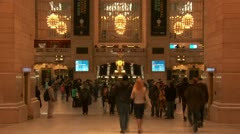 Grand Central Terminal Timelapse 3 Stock Footage