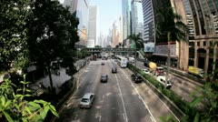 Vehicles Hong Kong Island, Time Lapse Stock Footage