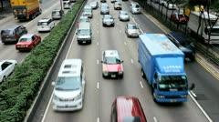 City road traffic on Hong Kong Island - stock footage