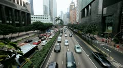 City road traffic on Hong Kong Island, Time Lapse - stock footage