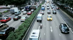 Road traffic on Gloucester Road, Hong Kong Island Stock Footage