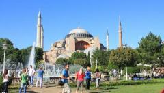 Hagia Sophia Visitors Stock Footage