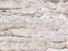 Mammoth Hot Springs Limestone Terraces Stock Photos
