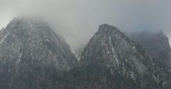 Ultra HD 4K Winter Landscape, Beautiful Mountains in Cold Season, Fir Tree Stock Footage