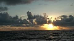Atlantic Ocean Sunset over water Stock Footage