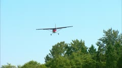 GlasAir Sportsman Landing Stock Footage