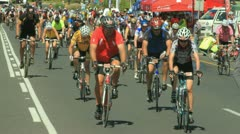 Cycle race timelapse Stock Footage