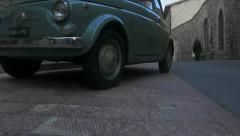 Wonderful vintage italian car Stock Footage