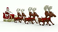 Stock Video Footage of santa's running deers