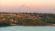 Stock Video Footage of Mt. Rainier MCU