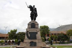 monument honouring general sucre. - stock photo