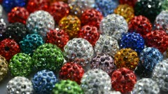 Sparkling colorful beads shamballa Stock Footage