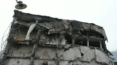 Destroyed old building Stock Footage