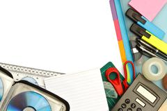 Stationery and office supplies Stock Photos