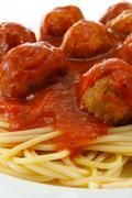 Spaghetti and meatballs Stock Photos