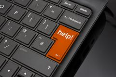 Help return key Stock Photos