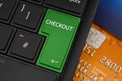 checkout enter key - stock photo