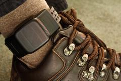 security electronic tagging - stock photo