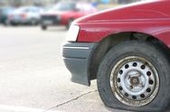 Stock Photo of flat tire