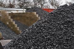 Coal yard storage Stock Photos
