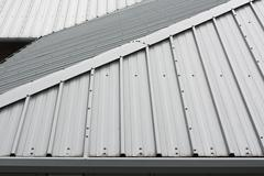 metal roof background - stock photo