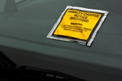 parking fine - stock photo