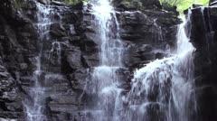 The Rio Latas Waterfall, in an area of limestone near Misahualli, Ecuador Stock Footage