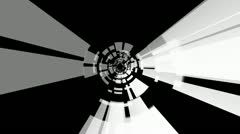 Digital tunnel rotating with alpha Stock Footage