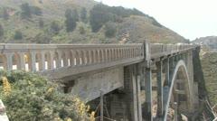 Bixby Bridge Highway 1 California Stock Footage