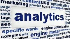Analytics creative words message Stock Footage