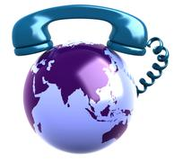 Telephone Receiver and earth globe. Stock Illustration