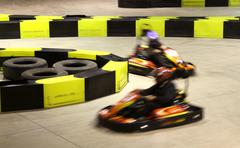 Go-cart racing Stock Photos