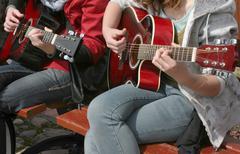 Guitarist duet Stock Photos