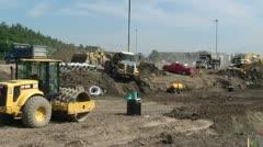 Construction routière Stock Footage