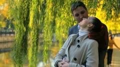 Autumn romantic couple Stock Footage