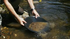 gold panning - stock footage