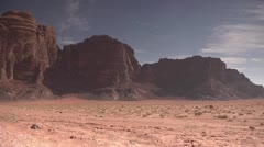 Desert Mountains Landscape, Wadi Rum, Jordan Stock Footage