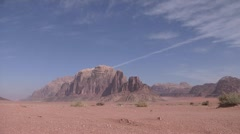 Desert Mountains, Wadi Rum, Jordan Stock Footage