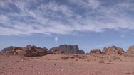 Stock Video Footage of Desert Landscape, Wadi Rum, Jordan